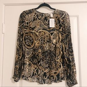 Long Sleeve Creped Blouse from H&M